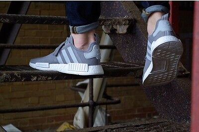 Mens Adidas NMD Trainers UK8.5 S31503 Grey