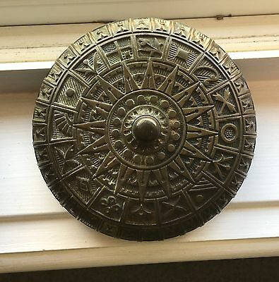 Dated July 4th 1876 Vintage Antique Ornate Victorian Brass Mechanical Door Bell