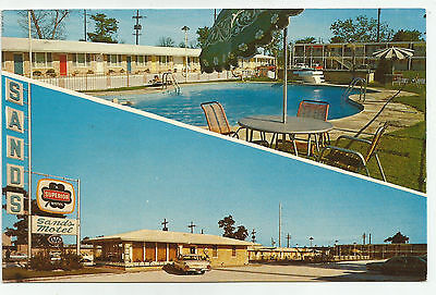 The Sands Motel and Pool, New Orleans, Louisiana, 1960s Postcard