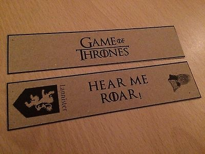 Game of Thrones Bookmark Set - Lannister. Great Gift Set of 2 Bookmarks.