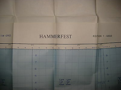 1957 WAR OFFICE Map NORWAY - HAMMERFEST 52B - Mint Condition