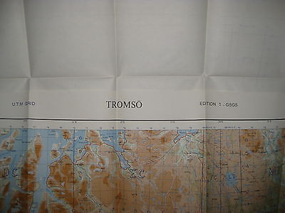 1957 WAR OFFICE Map NORWAY - TROMSO 52C - Mint Condition