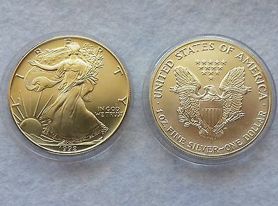 USA 1 Dollar 1992 American Silver Eagle 1oz. Silber, 1 Unze 999/1000 Liberty **