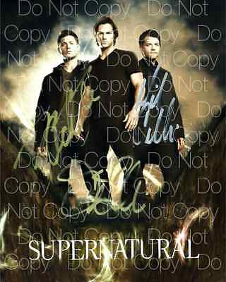 Supernatural signed Ackles Collins 8X10 photo picture poster autograph RP