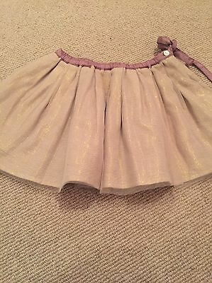 I Love Gorgeous Girls Bonpoint Gold Party Skirt age 2 Worn Once