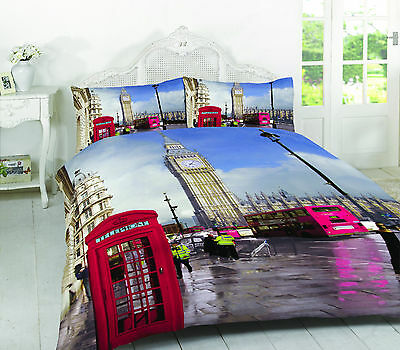 3D Duvet Cover with Pillow Case Quilt Cover Bedding Set Bedroom All Size London
