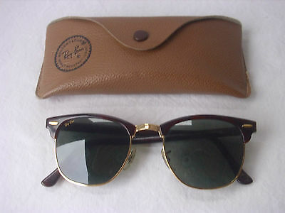 Bausch&Lomb Ray Ban USA Sonnenbrille W1116 Clubmaster  Braun Gold B&L Vintage