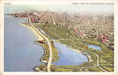 Chicago, Aerial View of Lincoln Park 1955