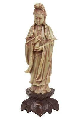 China 20. Jh. Speckstein - A Chinese Soapstone Figure of Guanyin Chinois Cinese