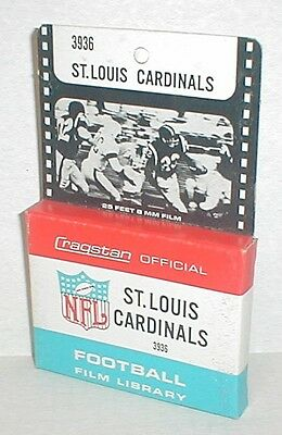 vintage ST LOUIS CARDINALS UNUSED Cragstan NFL Football 8mm Film 1960's FREE