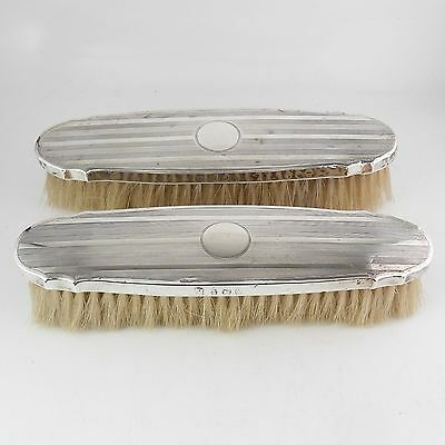 Pair Of Vintage Solid Silver Grooming Brushes Hallmarked Birmingham 1922