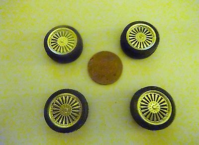 Scale Model Spares 'veilside' Alloys And Tyres Set Of 4 In Vgc