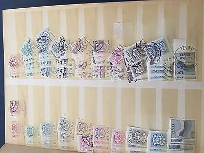 Estonia stockbook with many stamps incl booklets and part sheets, big lot