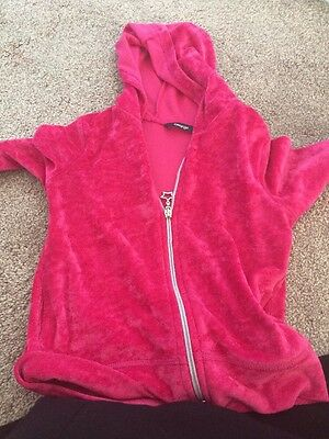 Girls Pink Hooded Top Age 4 To 5