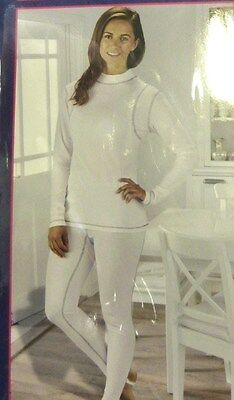 BNWT Ladies Equestrian Base Layer Thermals Set White Size Small