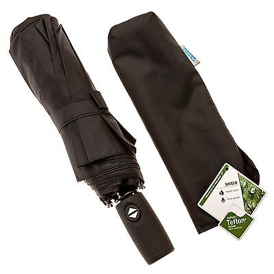 Compact Travel Umbrella - Windproof Tested To 60 MPH - Automatic Open & ... NEW!