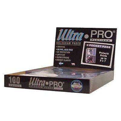200 ULTRA PRO PLATINUM 2-POCKET Pages 5 x 7 Sheets Protectors Brand New in Box