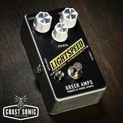 Greer Amps Lightspeed Overdrive Effects Pedal *Custom Color Edition*