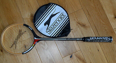 Slazenger Drive Wooden Squash Racket and Cover Brand New Vintage Traditional