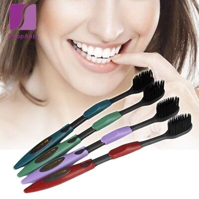 4 Pcs/Lot Oral Hygiene Soft Toothbrush Bamboo Charcoal Nano Brush Clean Care
