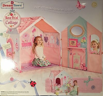 NEW Dream Town Rose Petal Cottage Playhouse Kids Pretend Play House Tent