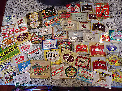 Lot of 52 Old Vintage 1900's BEER LABELS - Mint WOW