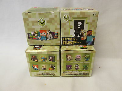 New 4 Minecraft Mini-Figures. 1 In Each Box. Unopened Series 6