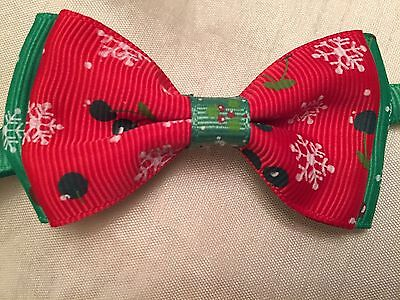Dog/Cat christmas Adjustable Bow Tie. Lovely Quality