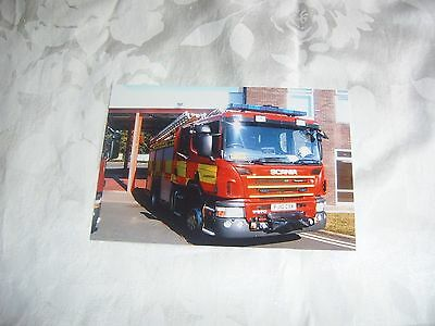 6x4 Fire Brigade Photo-Leicestershire Scania Fire Appliance