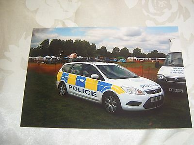 6x4 Photo of Northamptonshire Ford Focus Police Car
