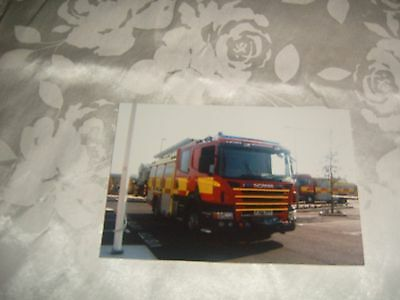 Fire Brigade Photo-Leicestershire Scania Fire Appliance