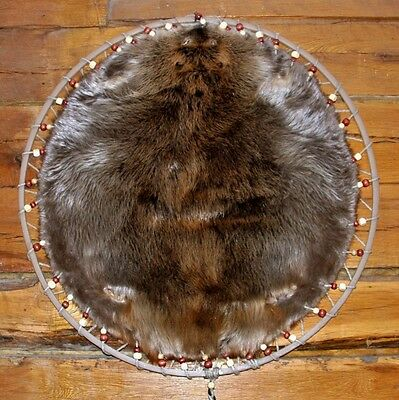 LG Prime Select Grade-Hooped Eastern Beaver Pelt-With Nat. Wood Beads or choice!