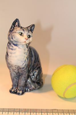 Collectable Rare Beswick Seated Cat Model 1030 in Very Rare Blue Colour