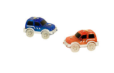 Bend A Path Toy Track Accessory - 2 Pack Light Up SUV's Toy Cars