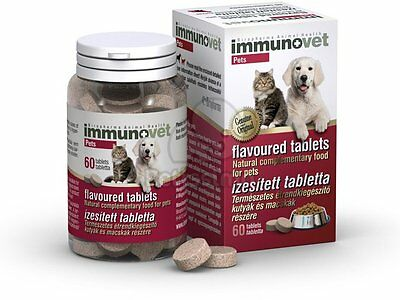 IMMUNOVET - Chewable Tablets for Cats and Dogs - Fermented Wheat Germ Extract