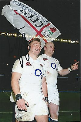TOM YOUNGS - Hand Signed 6x4 Photo - Leicester Tigers England World Cup - Rugby