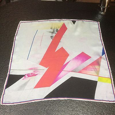 Silk Pocket Square - Abstract Design - Printed & Made In England - Rolled Hem