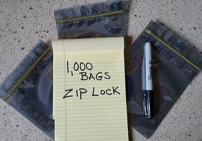 "LAST CASE 1,000 Static Shield Zip 4"" x 6"" Ziplock Statshield ESD Bags 4x6 USA"