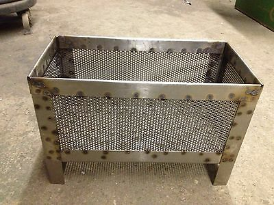 Wood Pellet Basket for Wood Stoves!! - Stainless Steel!!  Made in MAINE, USA!!