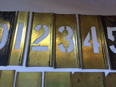 """Reese's Vintage Adjustable Brass Stencils 2"""" inch Numbers"""