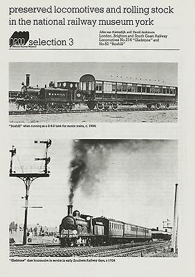 Sheet – LBSCR 0-6-0 x2 - pics / drawings / details – NRM 3 – excellent condition