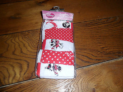 Pack Of 5 Minnie Mouse Girls Knickers Age 7/8 Brand New
