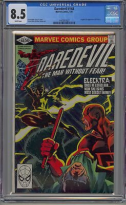 Daredevil #168 Cgc 8.5 White Pages 1St Elektra