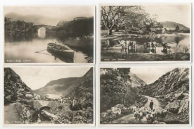 """Pack of 12 Old Postcards """"Fair Killarney"""" Real Photograph"""