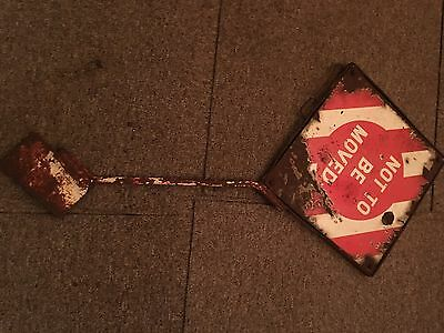 railwayana Enamel Sign Very Rare Not To Be Moved