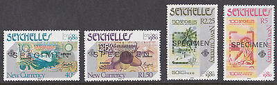 Seychelles - London 1980 New Currency SPECIMEN optd MNH set SG468 to SG471