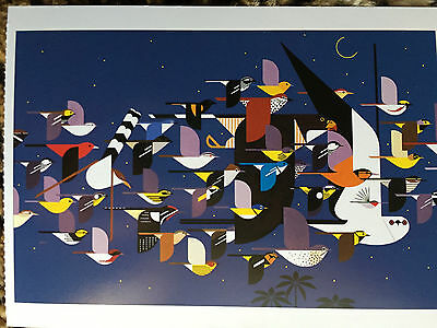 CHARLEY CHARLES HARPER Mystery  of the Missing Migrants Art Card  Birds New