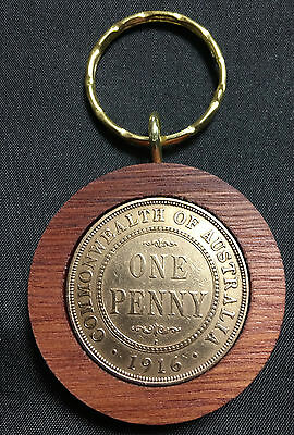 1916 Birthday Gift Present Jarrah Australian Penny Keyring other years available