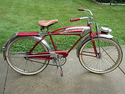 Rare Vintage 1956 WESTERN FLYER X-53 Super Tank Bicycle All Original Attic Find!
