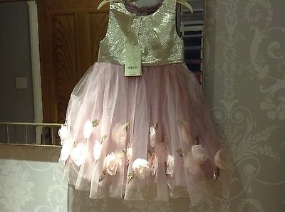 Beautuful Princess Monsoon Special Occasion Dress Age 4 RRP £50 WASHABLE